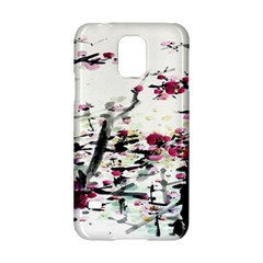 Pink Flower Ink Painting Art Samsung Galaxy S5 Hardshell Case  by BangZart