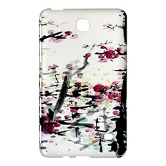 Pink Flower Ink Painting Art Samsung Galaxy Tab 4 (7 ) Hardshell Case  by BangZart