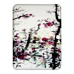 Pink Flower Ink Painting Art Samsung Galaxy Tab 4 (10 1 ) Hardshell Case  by BangZart