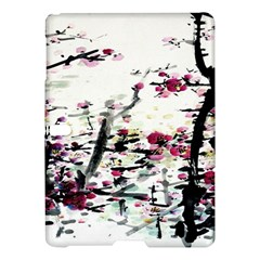 Pink Flower Ink Painting Art Samsung Galaxy Tab S (10 5 ) Hardshell Case  by BangZart