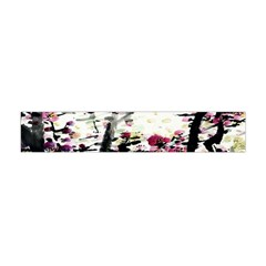 Pink Flower Ink Painting Art Flano Scarf (mini)