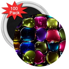 Stained Glass 3  Magnets (100 Pack)