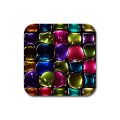 Stained Glass Rubber Square Coaster (4 Pack)  by BangZart