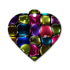 Stained Glass Dog Tag Heart (two Sides) by BangZart
