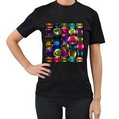 Stained Glass Women s T Shirt (black)