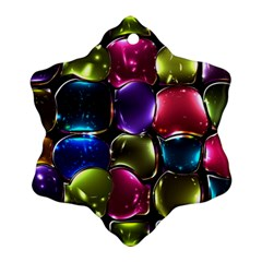 Stained Glass Ornament (snowflake)