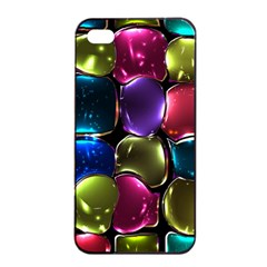 Stained Glass Apple Iphone 4/4s Seamless Case (black) by BangZart