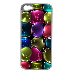 Stained Glass Apple Iphone 5 Case (silver)