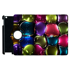 Stained Glass Apple Ipad 3/4 Flip 360 Case by BangZart