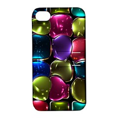 Stained Glass Apple Iphone 4/4s Hardshell Case With Stand