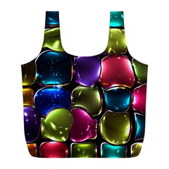 Stained Glass Full Print Recycle Bags (l)  by BangZart