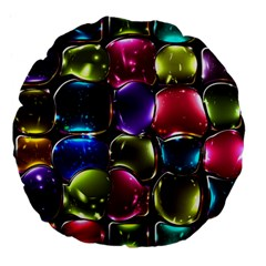 Stained Glass Large 18  Premium Flano Round Cushions by BangZart