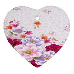 Sweet Flowers Ornament (heart) by BangZart