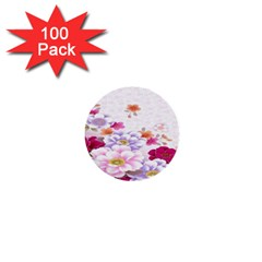 Sweet Flowers 1  Mini Buttons (100 Pack)  by BangZart