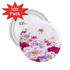 Sweet Flowers 2 25  Buttons (100 Pack)  by BangZart