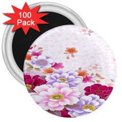 Sweet Flowers 3  Magnets (100 Pack)
