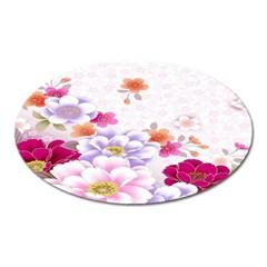 Sweet Flowers Oval Magnet
