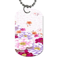 Sweet Flowers Dog Tag (two Sides) by BangZart