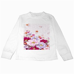 Sweet Flowers Kids Long Sleeve T Shirts by BangZart