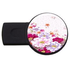 Sweet Flowers Usb Flash Drive Round (4 Gb) by BangZart