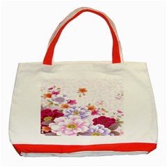 Sweet Flowers Classic Tote Bag (red) by BangZart