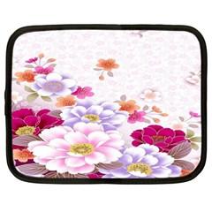 Sweet Flowers Netbook Case (large)