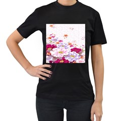 Sweet Flowers Women s T Shirt (black) by BangZart