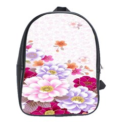 Sweet Flowers School Bags(large)  by BangZart