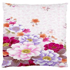 Sweet Flowers Large Cushion Case (one Side)