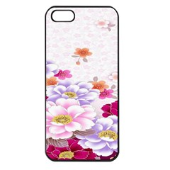 Sweet Flowers Apple Iphone 5 Seamless Case (black) by BangZart