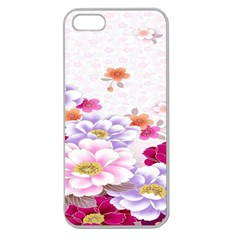 Sweet Flowers Apple Seamless Iphone 5 Case (clear)