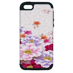 Sweet Flowers Apple Iphone 5 Hardshell Case (pc+silicone) by BangZart