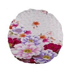 Sweet Flowers Standard 15  Premium Round Cushions