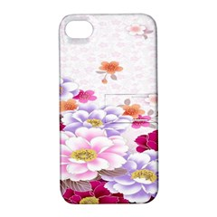 Sweet Flowers Apple Iphone 4/4s Hardshell Case With Stand by BangZart