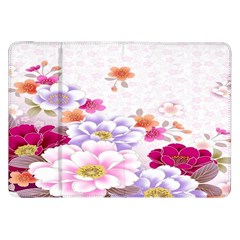Sweet Flowers Samsung Galaxy Tab 8 9  P7300 Flip Case by BangZart