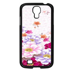 Sweet Flowers Samsung Galaxy S4 I9500/ I9505 Case (black) by BangZart