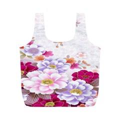 Sweet Flowers Full Print Recycle Bags (m)
