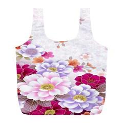 Sweet Flowers Full Print Recycle Bags (l)  by BangZart