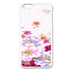 Sweet Flowers Apple Iphone 6 Plus/6s Plus Enamel White Case