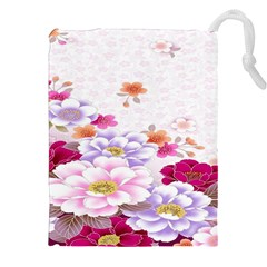 Sweet Flowers Drawstring Pouches (xxl) by BangZart