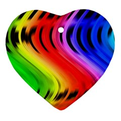 Colorful Vertical Lines Ornament (heart) by BangZart