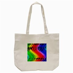 Colorful Vertical Lines Tote Bag (cream) by BangZart