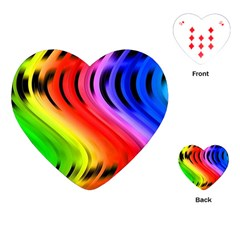 Colorful Vertical Lines Playing Cards (heart)