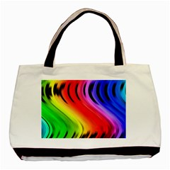 Colorful Vertical Lines Basic Tote Bag by BangZart