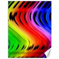 Colorful Vertical Lines Canvas 36  X 48