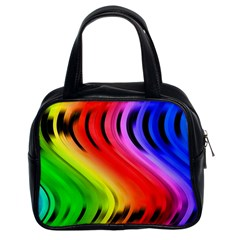 Colorful Vertical Lines Classic Handbags (2 Sides)