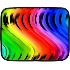 Colorful Vertical Lines Double Sided Fleece Blanket (mini)  by BangZart
