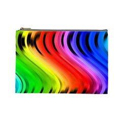 Colorful Vertical Lines Cosmetic Bag (large)  by BangZart
