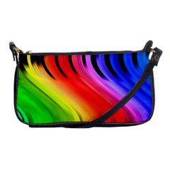 Colorful Vertical Lines Shoulder Clutch Bags by BangZart