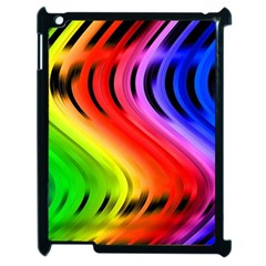 Colorful Vertical Lines Apple Ipad 2 Case (black)